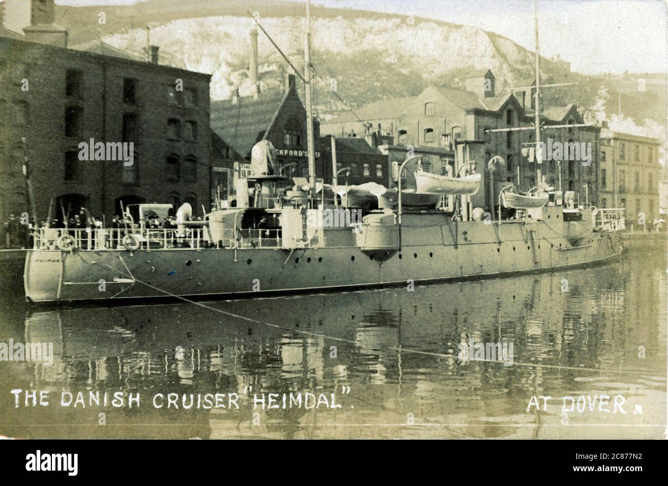 Le Danish Cruiser 'Heimdal', Douvres, Kent, Angleterre. Banque D'Images