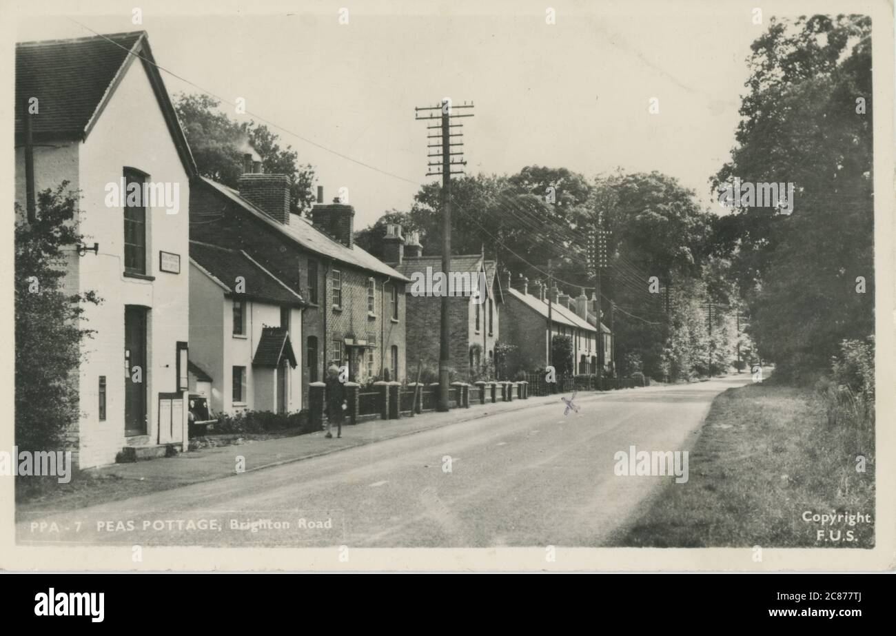 Brighton Road, Pease Pottage, Crawley, Broadfield, Sussex, Angleterre. Banque D'Images