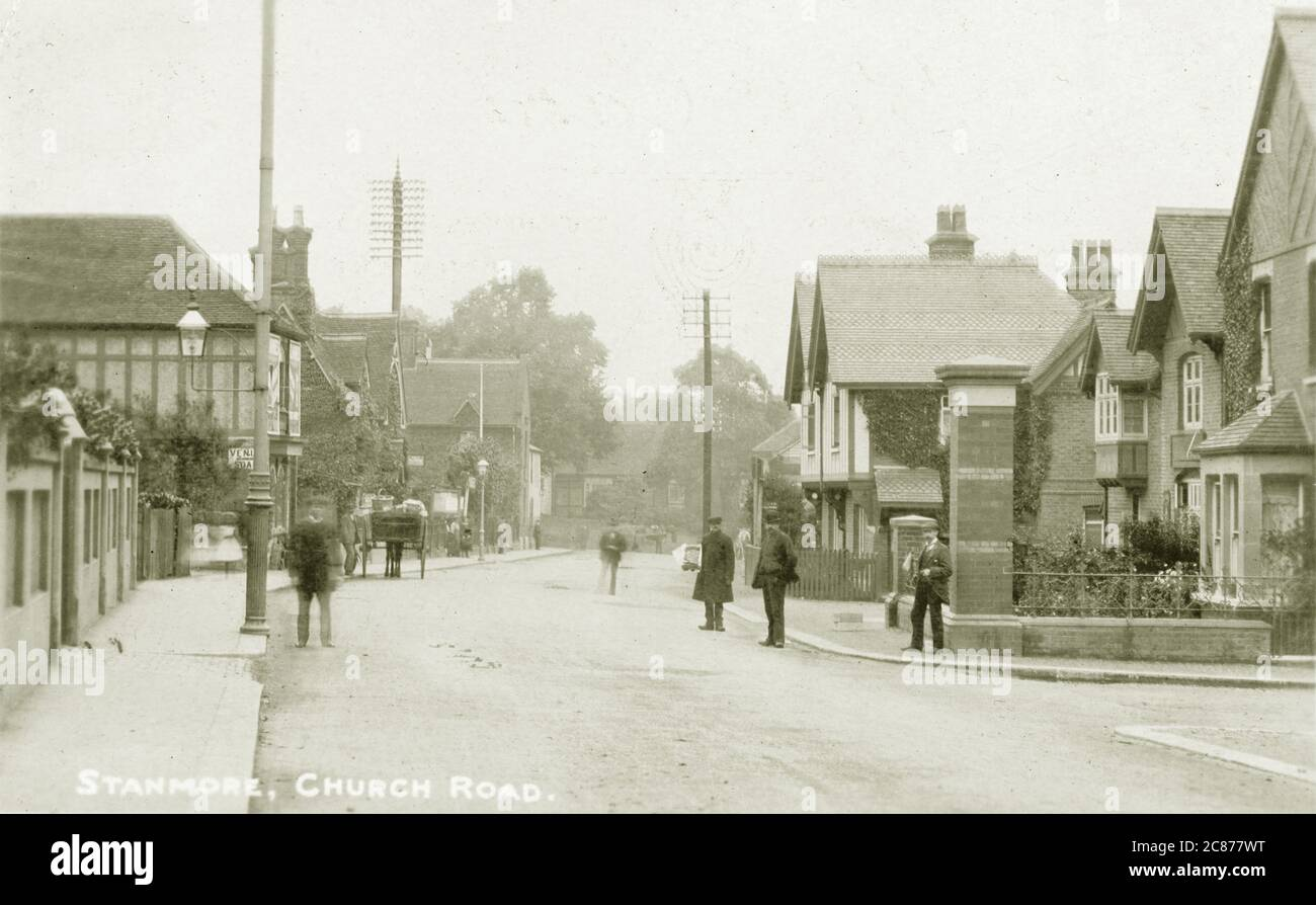 Church Road, Stanmore, Harrow, Londres, Angleterre. Banque D'Images