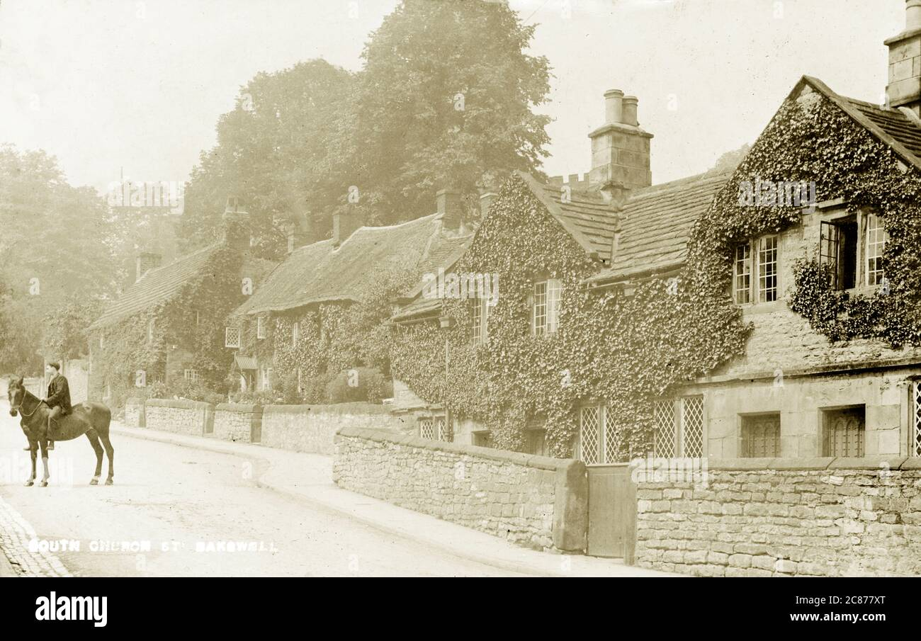 South Church Street, Bakewell, Matlock, Derbyshire, Angleterre. Banque D'Images