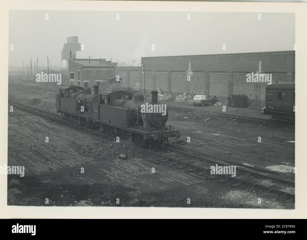 Gare - dépôt, Lostock Hall, Preston, Bamber Bridge, Lancashire, Grande-Bretagne. Banque D'Images