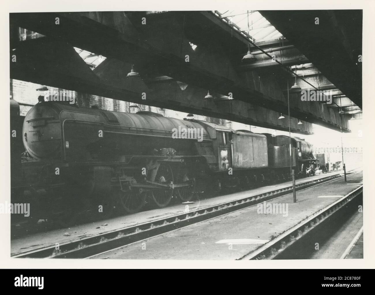 Gare - dépôt, Ardsley, Barnsley, Yorkshire, Grande-Bretagne. Banque D'Images