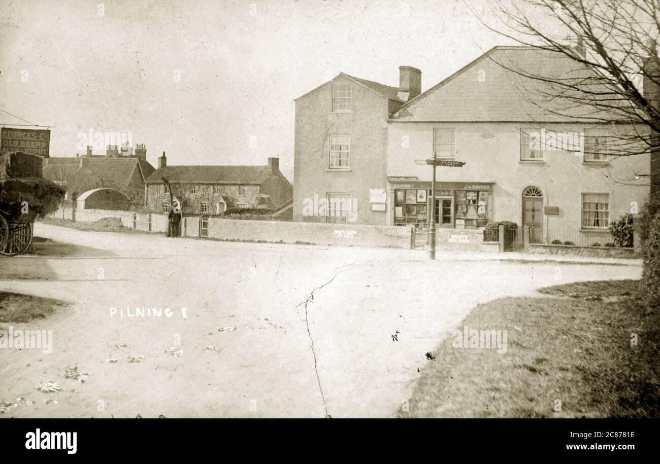 Jonction à Cross Hands Inn (L), Pilning, Bristol, Avonmouth, Avon, Gloucestershire, Angleterre. Banque D'Images