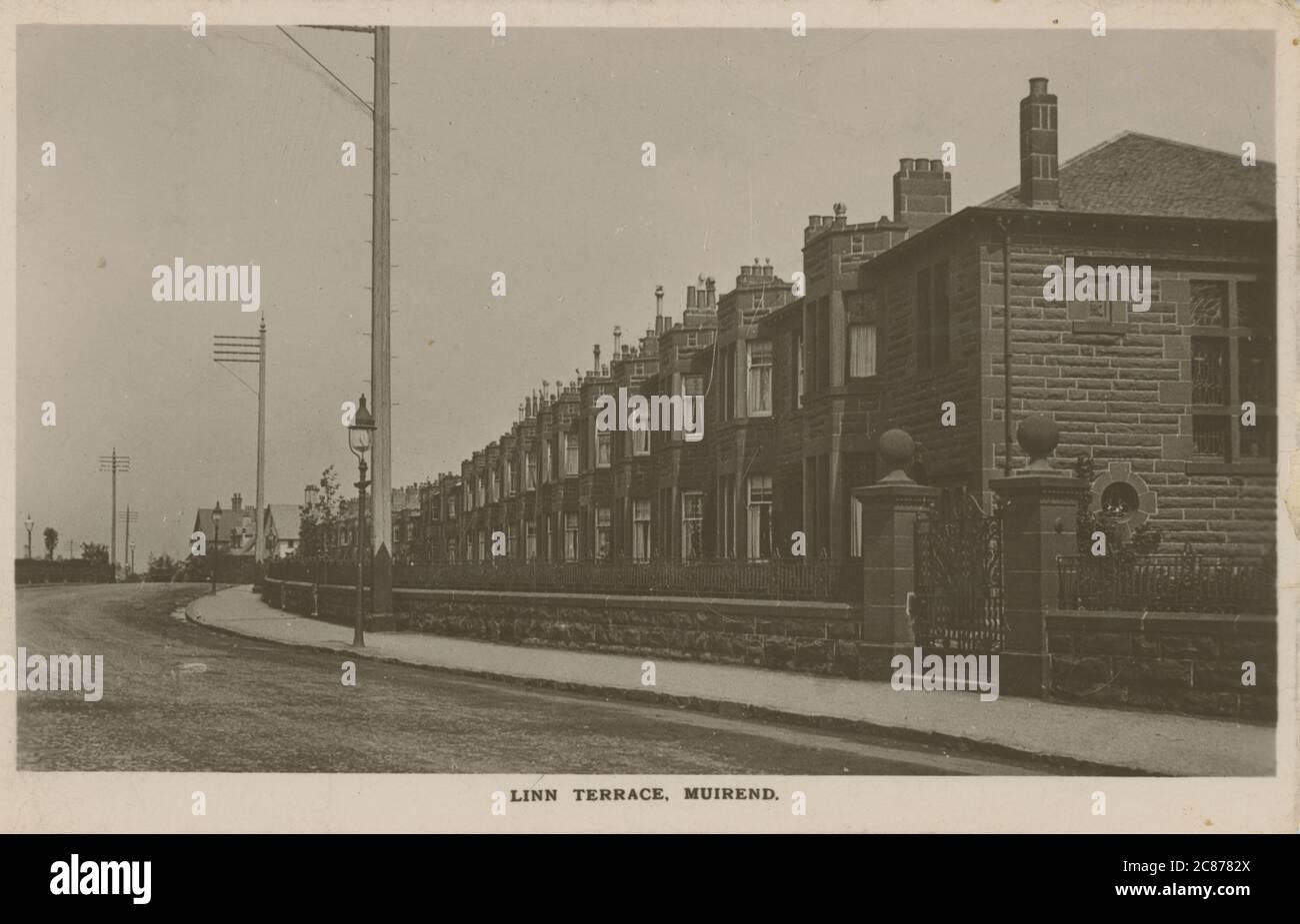 Linn Terrace, Clarkston Road, Muirend, Glasgow, Renfrewshire, Écosse. Banque D'Images