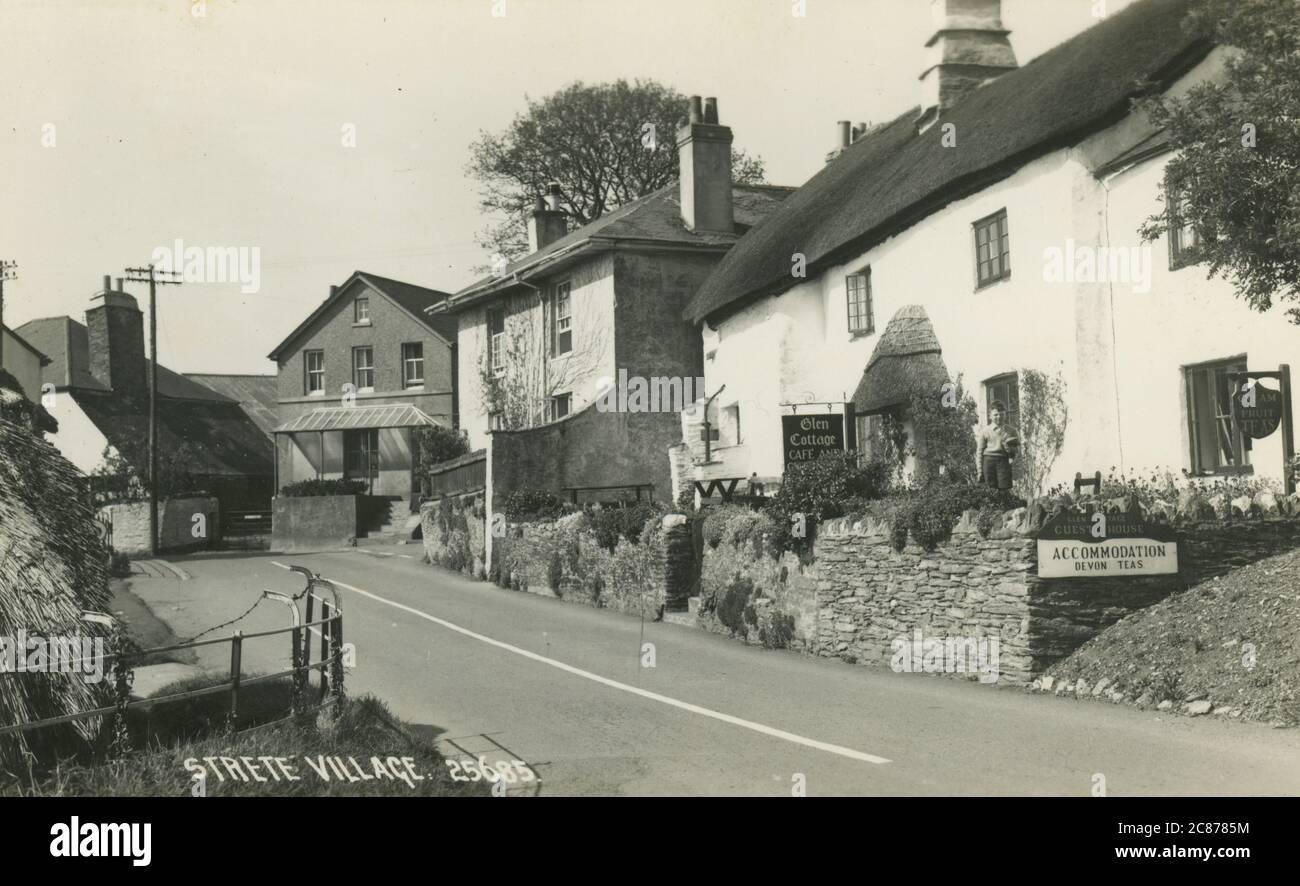 The Village, Strete, Dartmouth, Stoke Fleming, South Hams , Devon, Angleterre. Date: Années 1930 Banque D'Images
