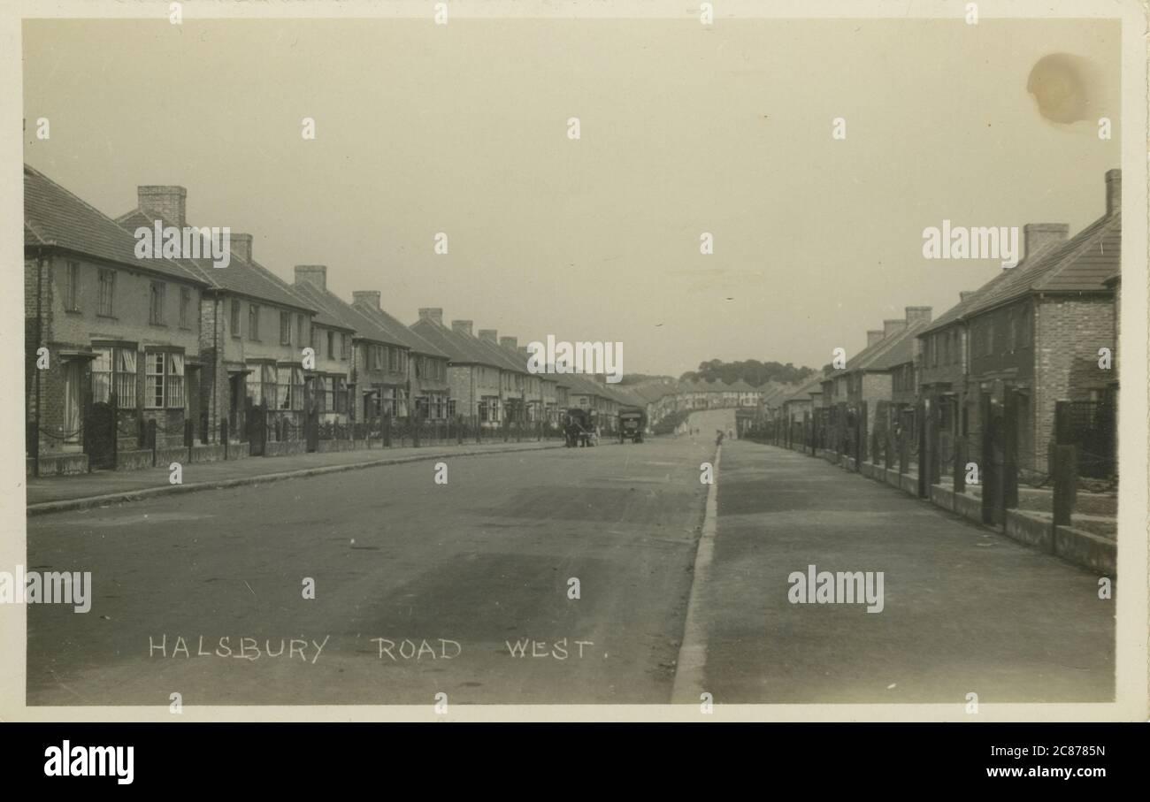 Halsbury Road West, Northolt, Ealing, Londres, Angleterre. Banque D'Images