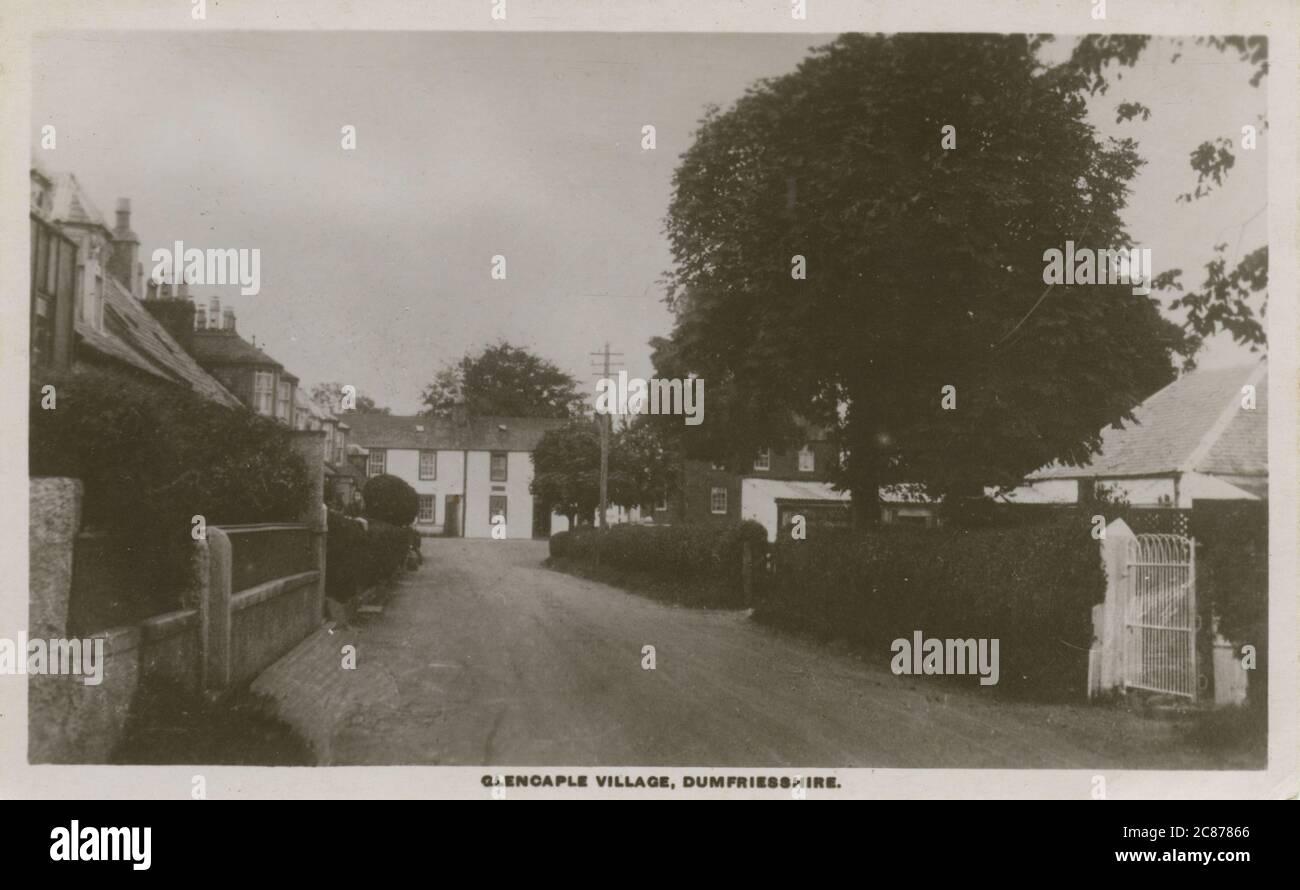 The Village, Glencarple, Dumfries, Dumfries & Galloway, Écosse. Date: 1920 Banque D'Images