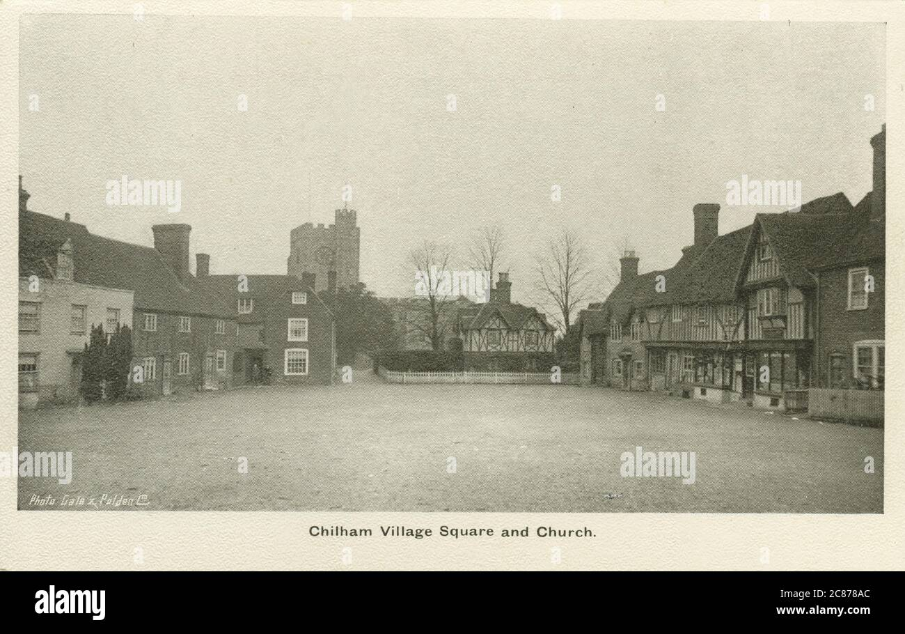 The Square , Chilham, Canterbury, Kent, Angleterre. Banque D'Images
