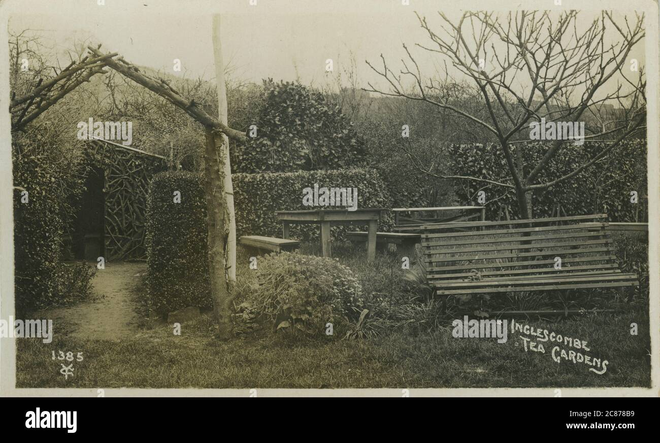 Tea Gardens, Englishcombe (Inglescombe), Bath, Southdown, Somerset, Angleterre. Banque D'Images