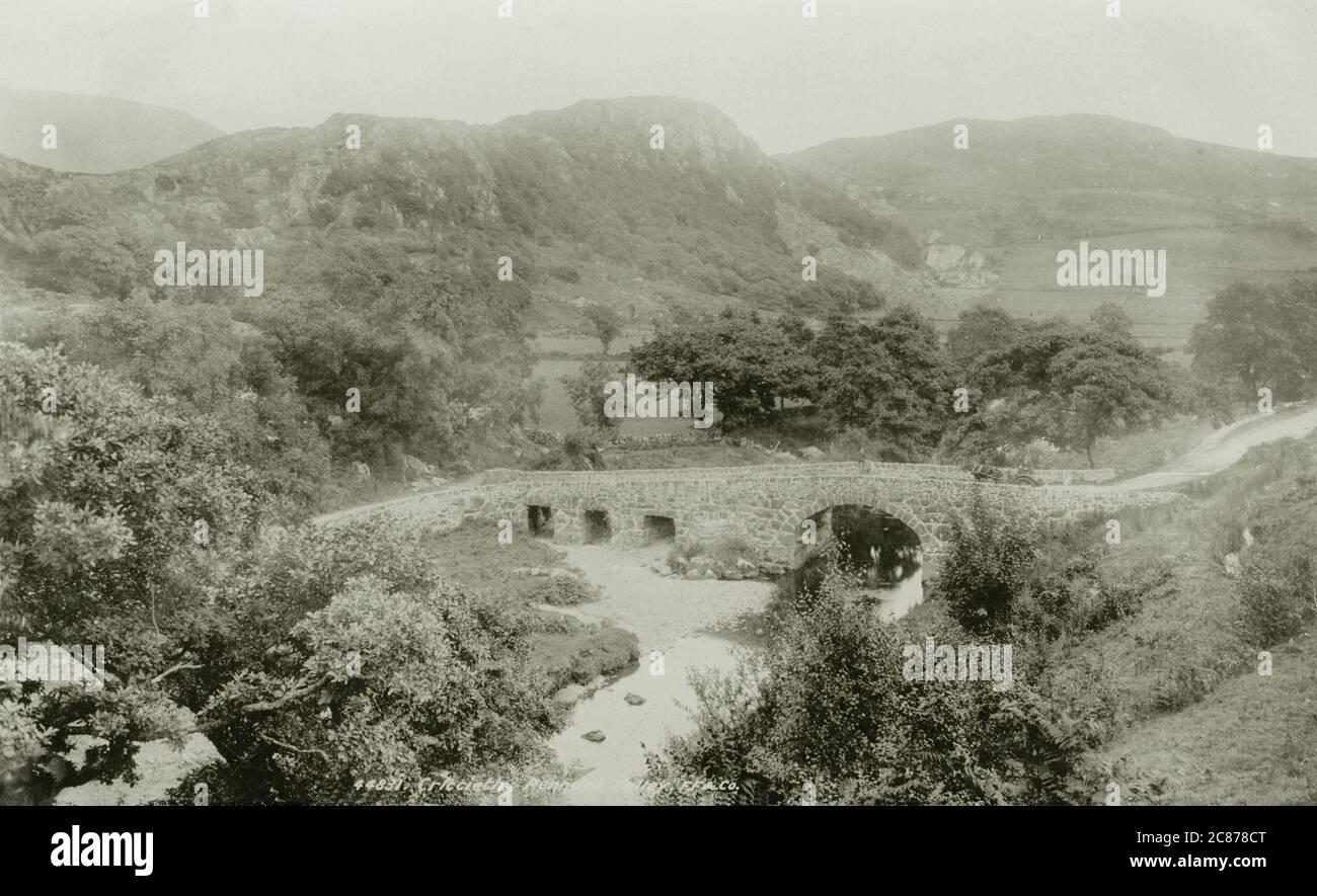 Old Bridge, MCG Pennant, Criccieth, Eifionydd, Cardiganshire, pays de Galles. Banque D'Images