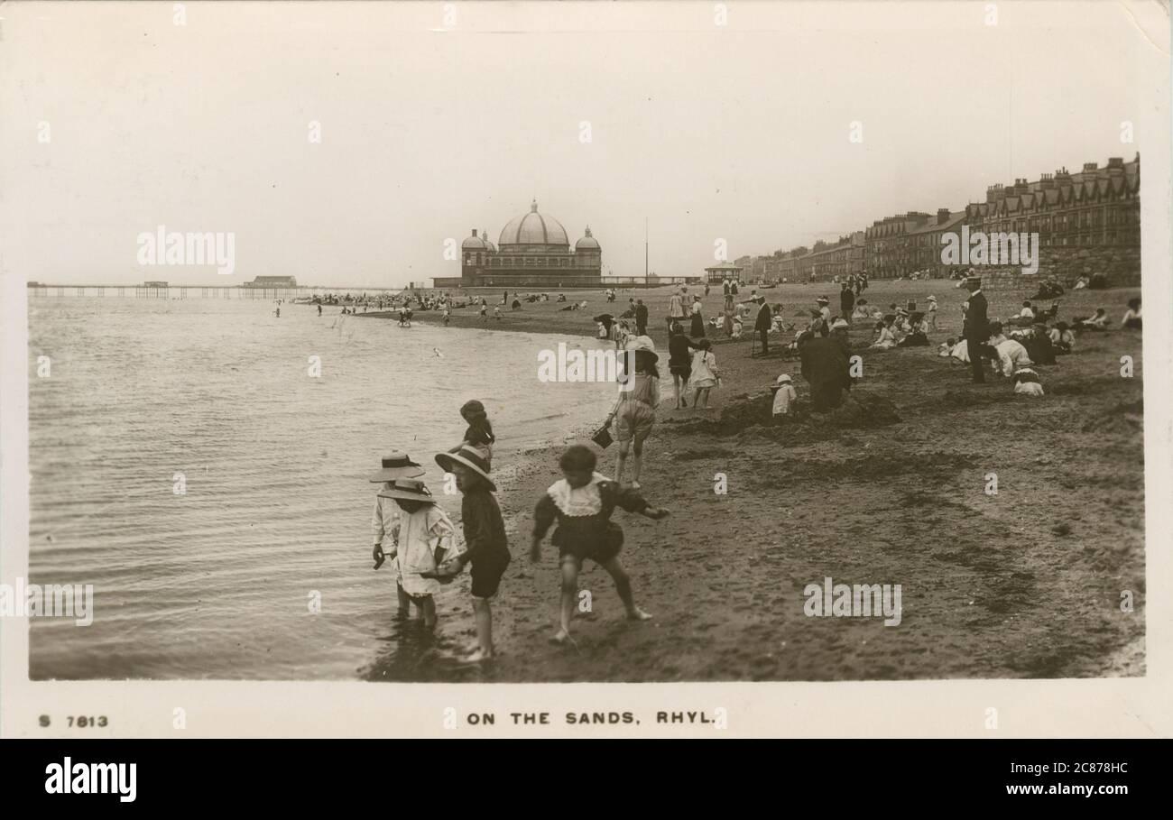 The Sands, Rhyl, Denbighshire, pays de Galles. Date : 1900s Banque D'Images