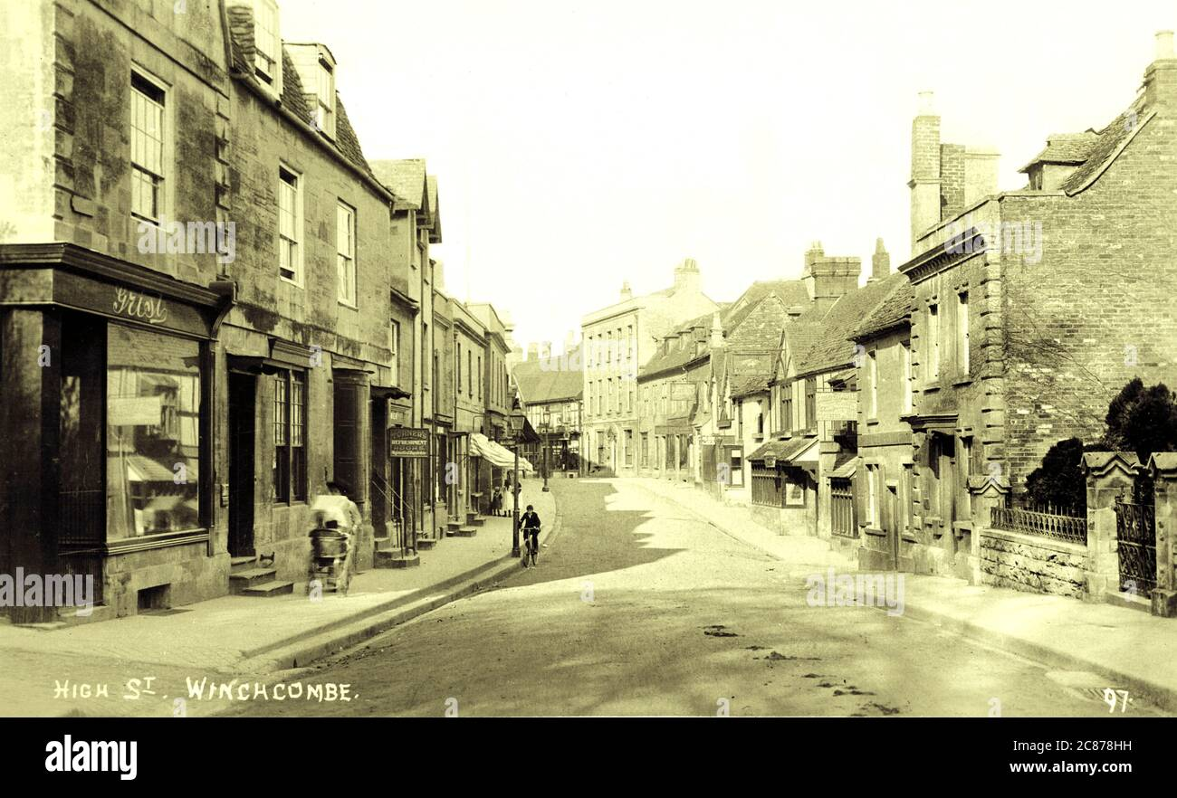 High Street, Winchcombe, Cheltenham, Tewkesbury, Cotswold, Gloucestershire, Angleterre. Banque D'Images