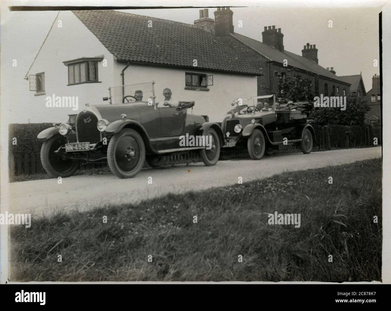 Overland Country Club Vintage car, éventuellement à Nottingham, dans le Nottinghamshire, en Angleterre. Banque D'Images