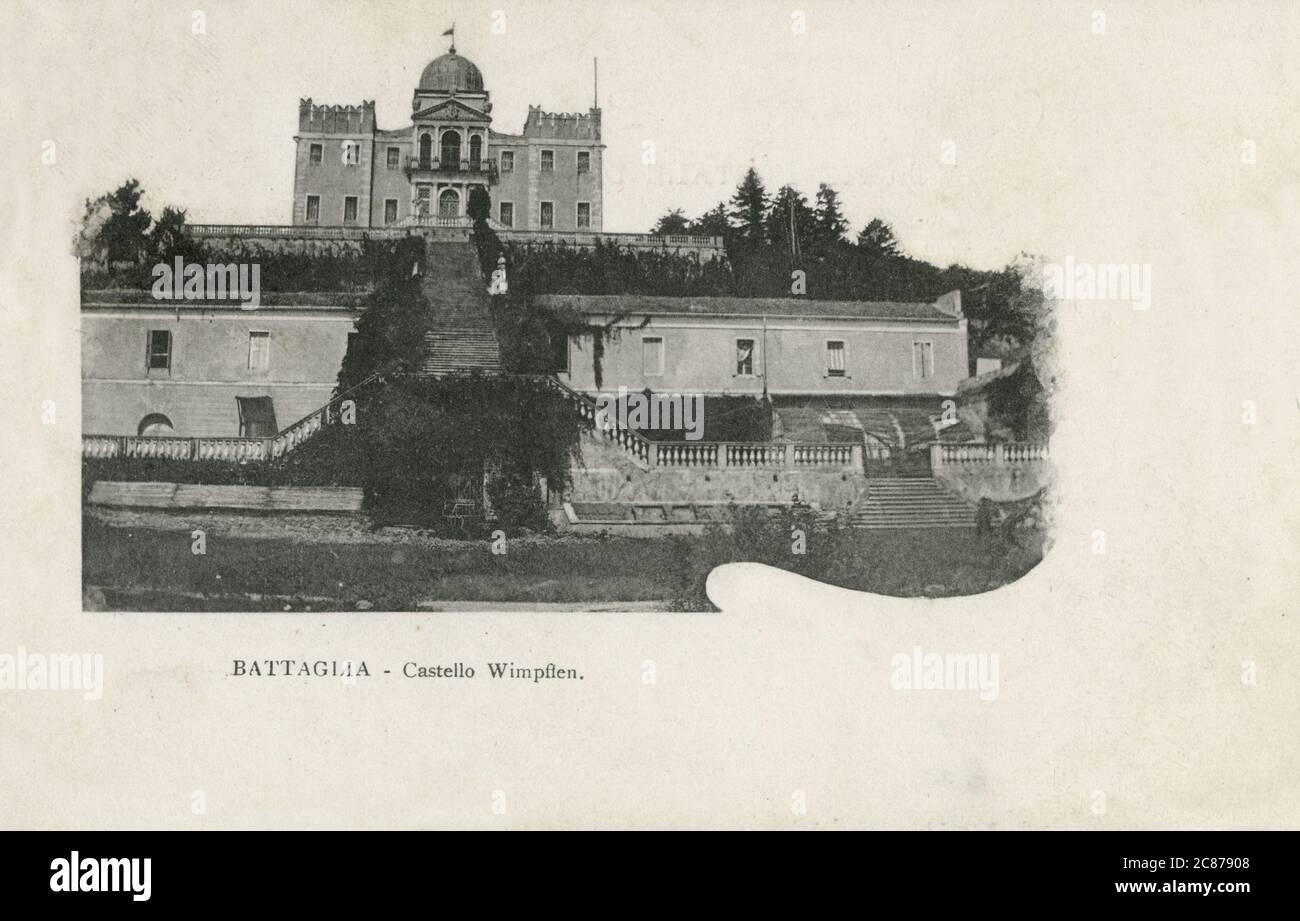 Villa Selvatico - Sartori - achevée en 1650, une villa de style baroque entourée d'un parc conçu par le célèbre paysage gardner Giuseppe Jappeli à Battaglia terme, une ville et une commune dans la région de Vénétie en Italie, dans la province de Padoue. 1904 Banque D'Images