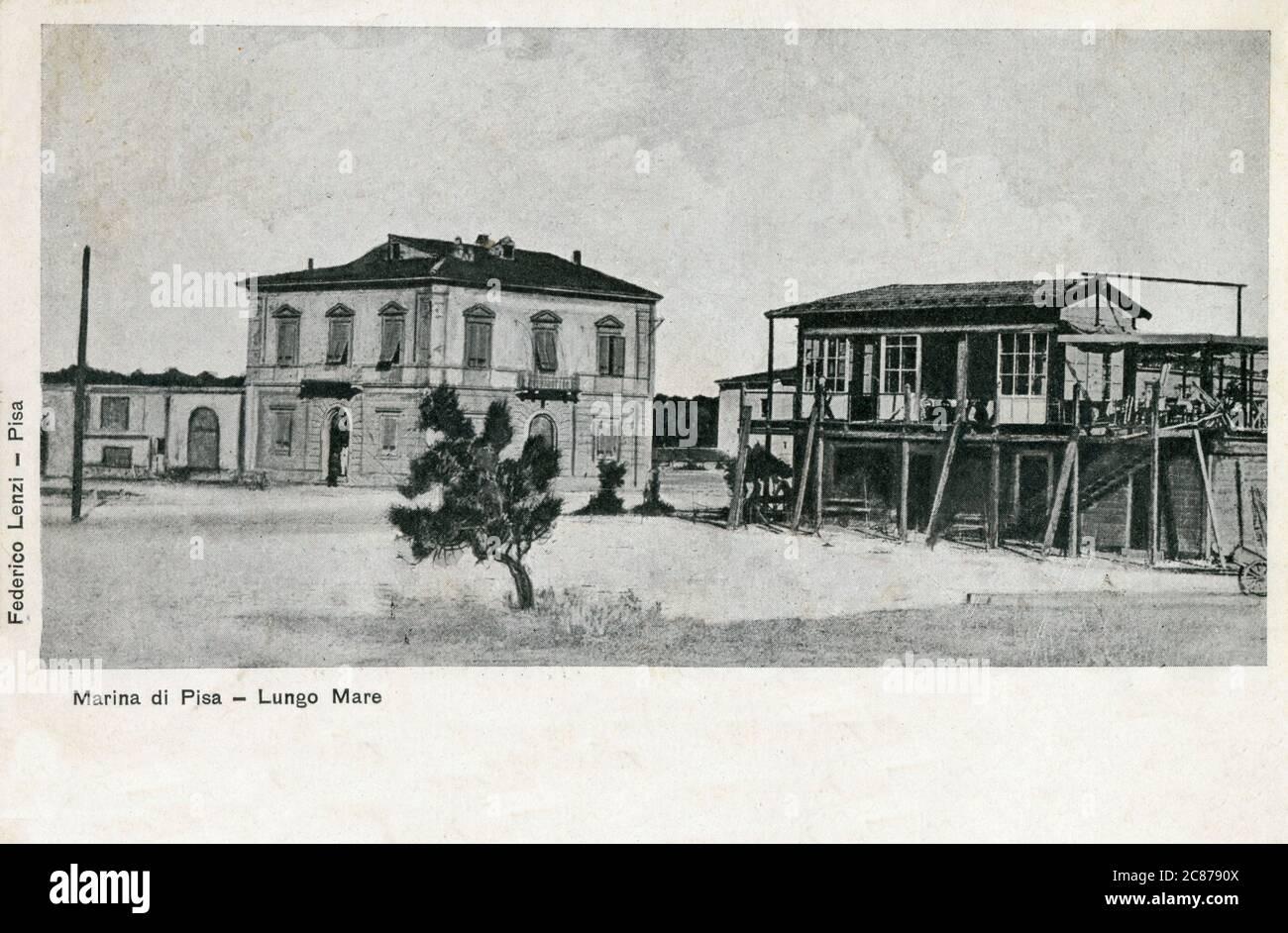 Marina di Pisa, Italie - Lungomare. Date: 1904 Banque D'Images