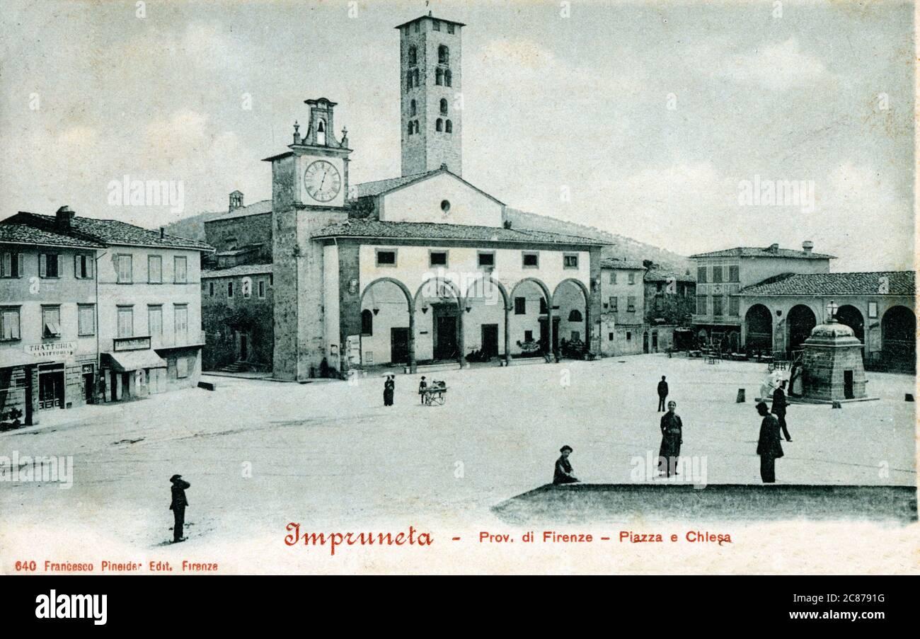 Impruneta - ville et commune de la ville métropolitaine de Florence dans la région italienne de Toscane. Basilique de Santa Maria. 1901 Banque D'Images