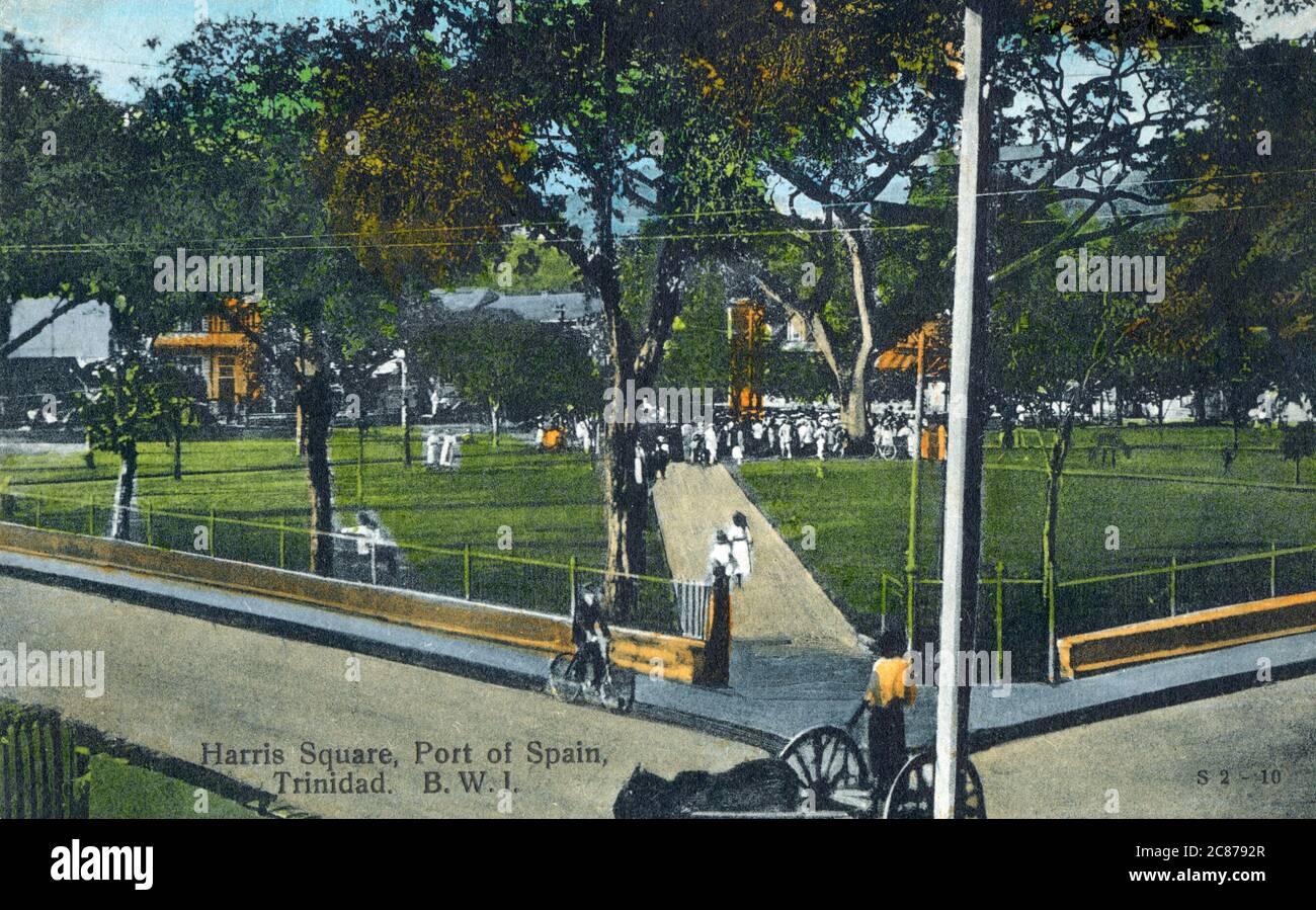 Harris Square, Port d'Espagne, Trinité-et-Tobago, Antilles. Date: Vers 1910 Banque D'Images