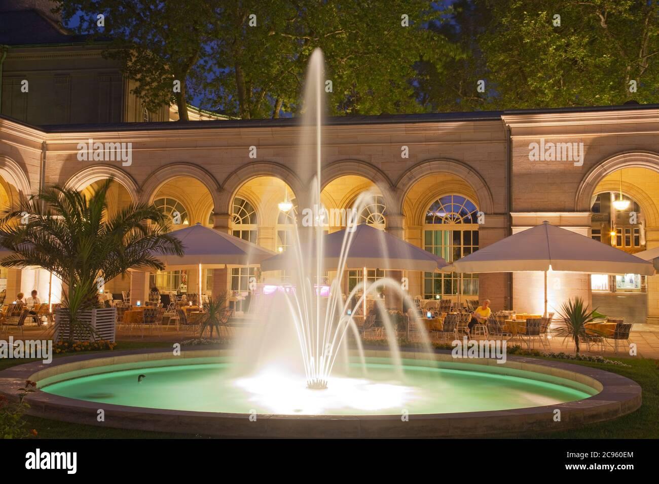Géographie / Voyage, Allemagne, Bavière, Bad Kissingen, spa jardins, arcade, droits-supplémentaires-déstockage-Info-non-disponible Banque D'Images