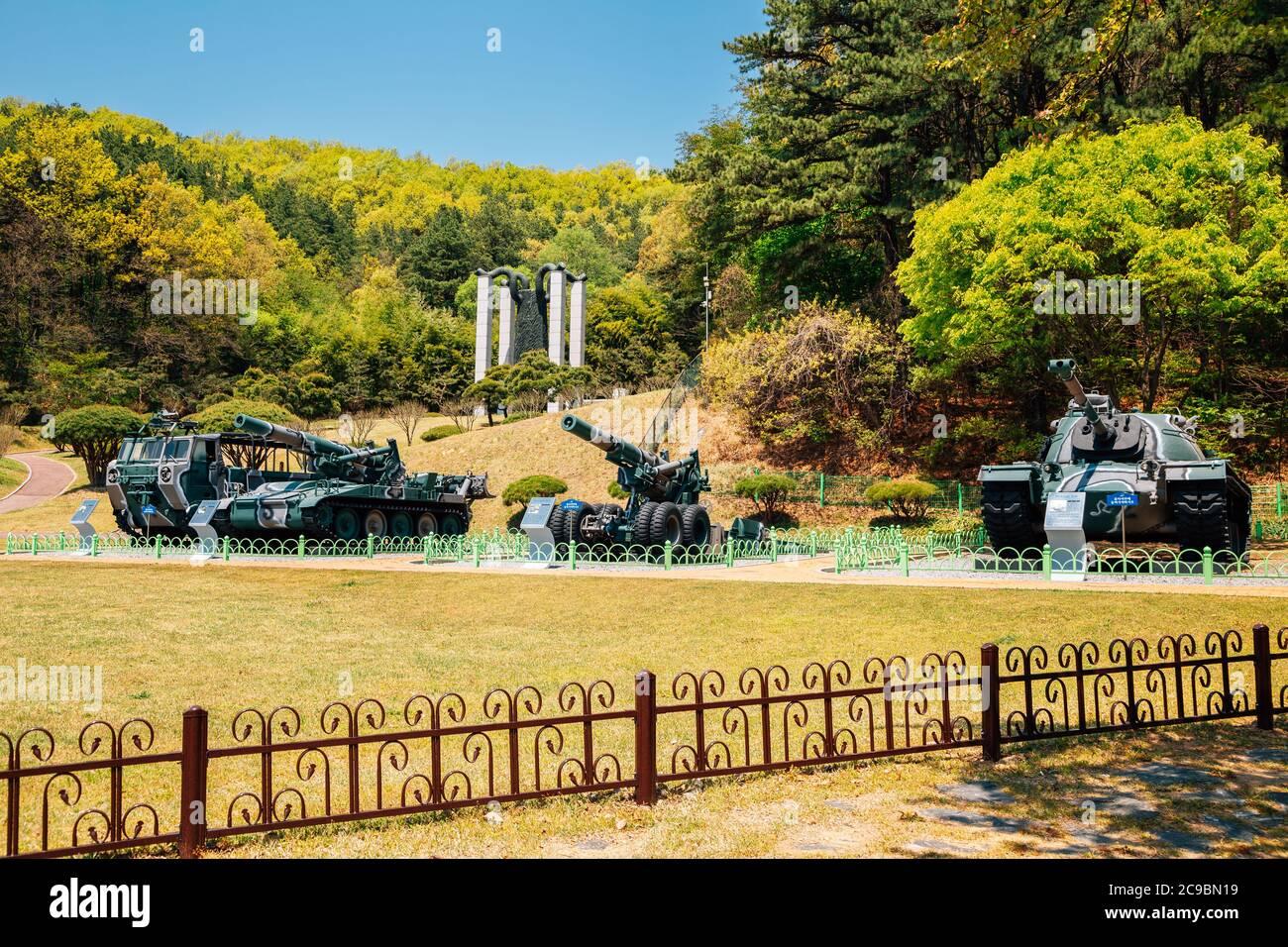 Cheonan, Corée - 28 avril 2020 : Parc commémoratif de Taedosan Banque D'Images
