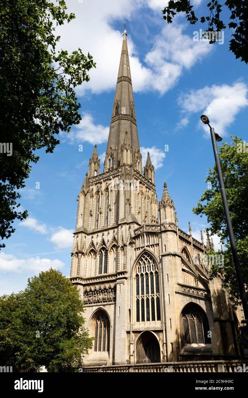 Église paroissiale St Mary Redcliffe, Bristol, Angleterre. Juillet 2020 Banque D'Images