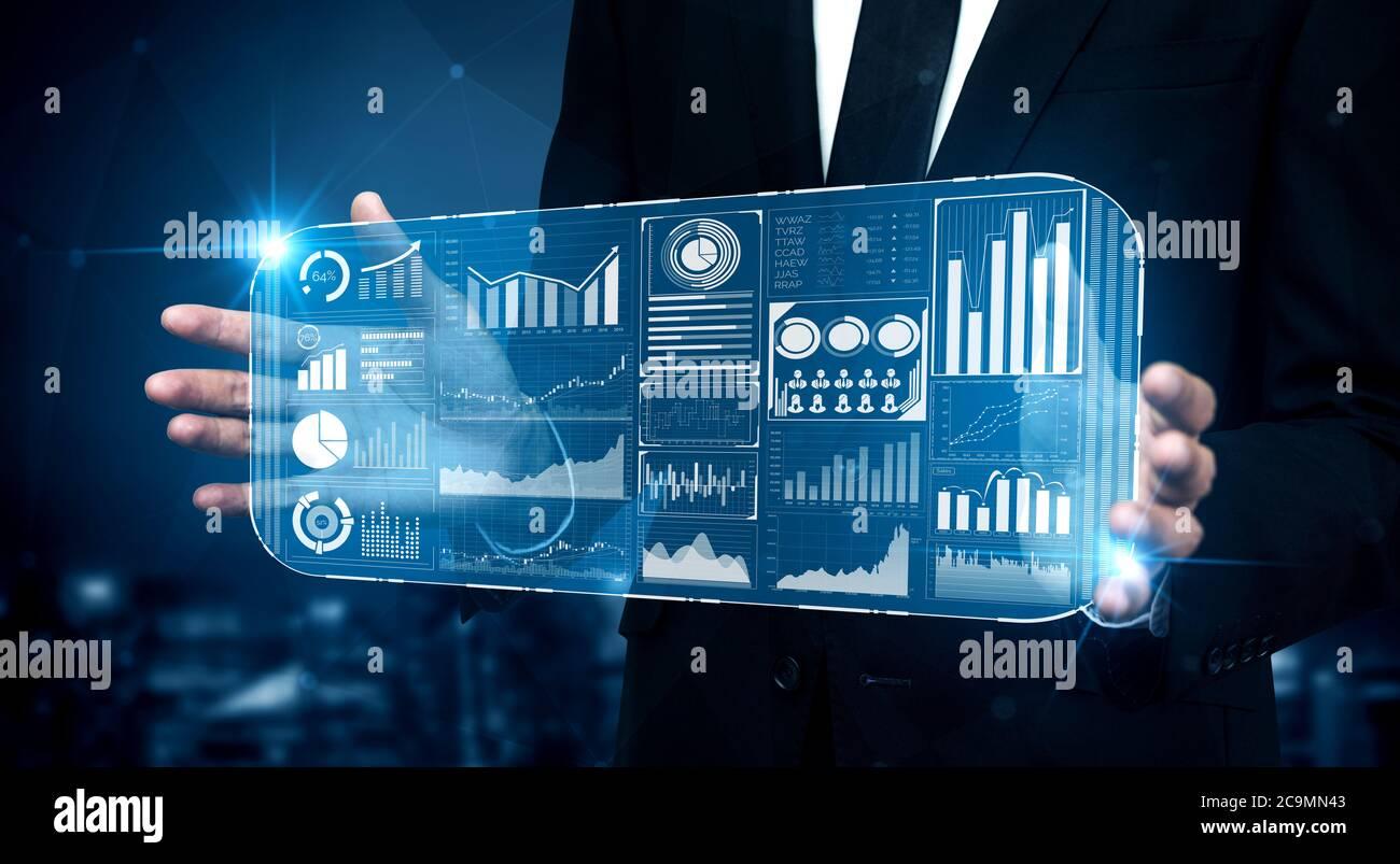 Concept de financement de la technologie Big Data pour les entreprises. Banque D'Images