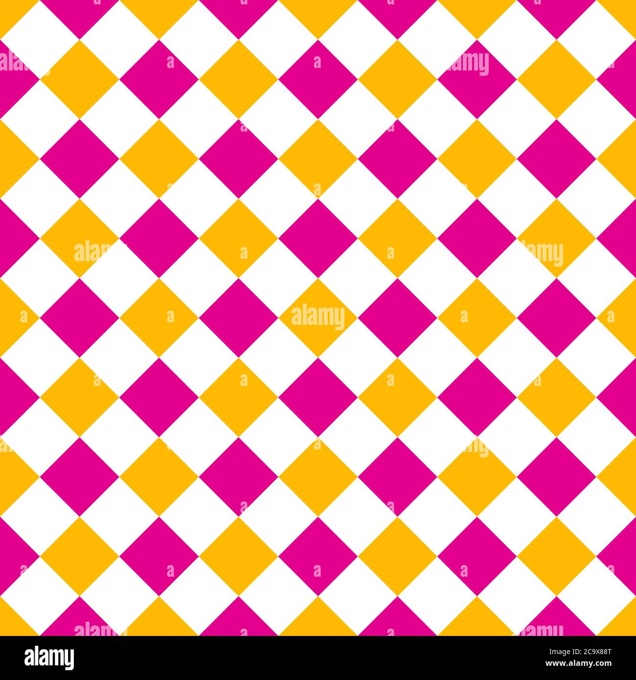 arrière-plan de l'illustration vectorielle à motif rhombus rose et jaune sans couture Illustration de Vecteur