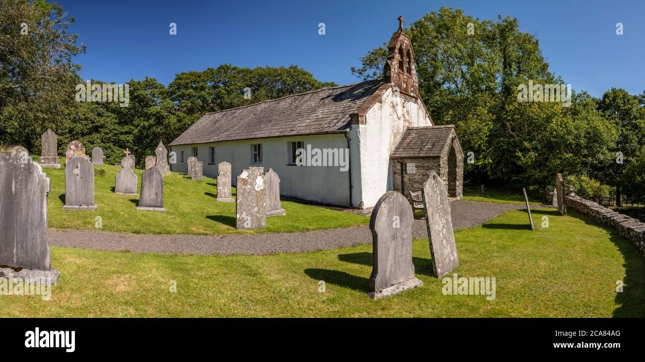 Église et cimetière à Ulpha, Lake District, Cumbria, Angleterre Banque D'Images