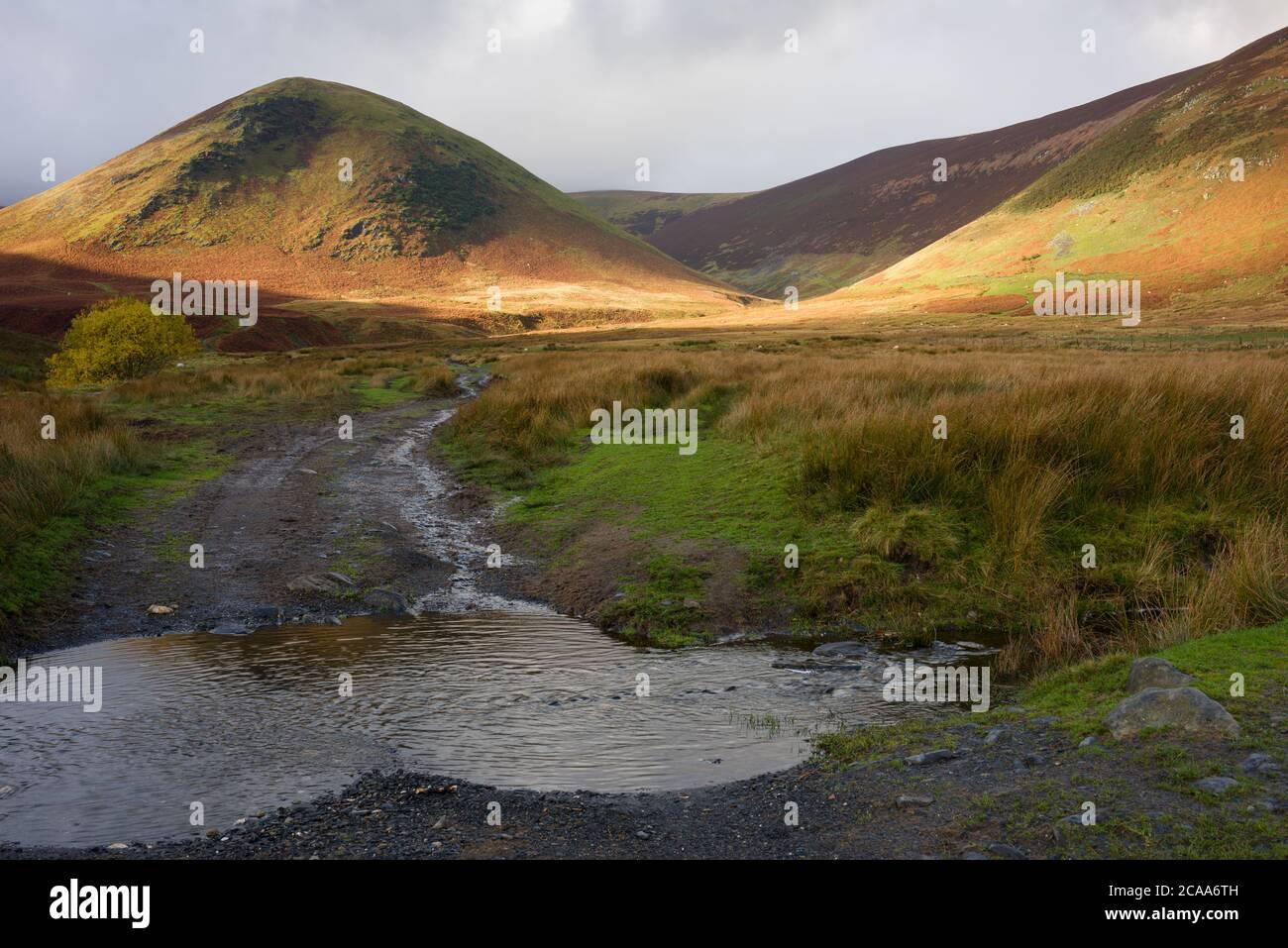 La langue et le Bowscale sont tombés à Mungrisdale, dans le parc national de Lake District, à Cumbria, en Angleterre. Banque D'Images