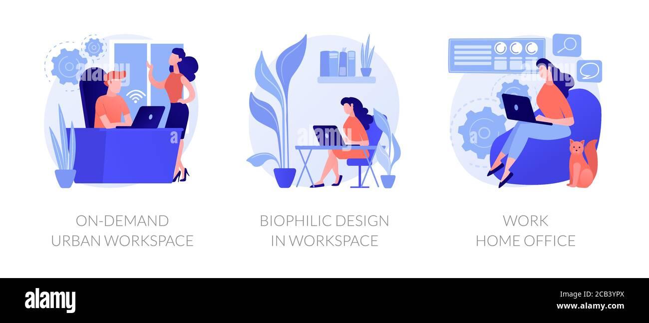 Illustrations vectorielles du concept abstrait de l'organisation du lieu de travail. Illustration de Vecteur