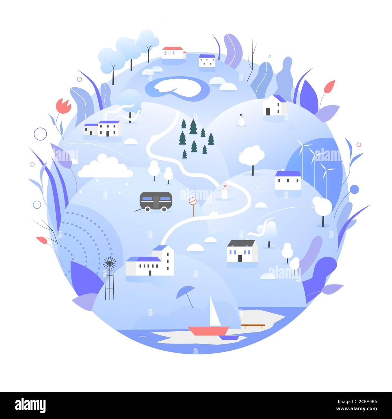 Planet Earth Tree Cartoon Banque D Image Et Photos Alamy