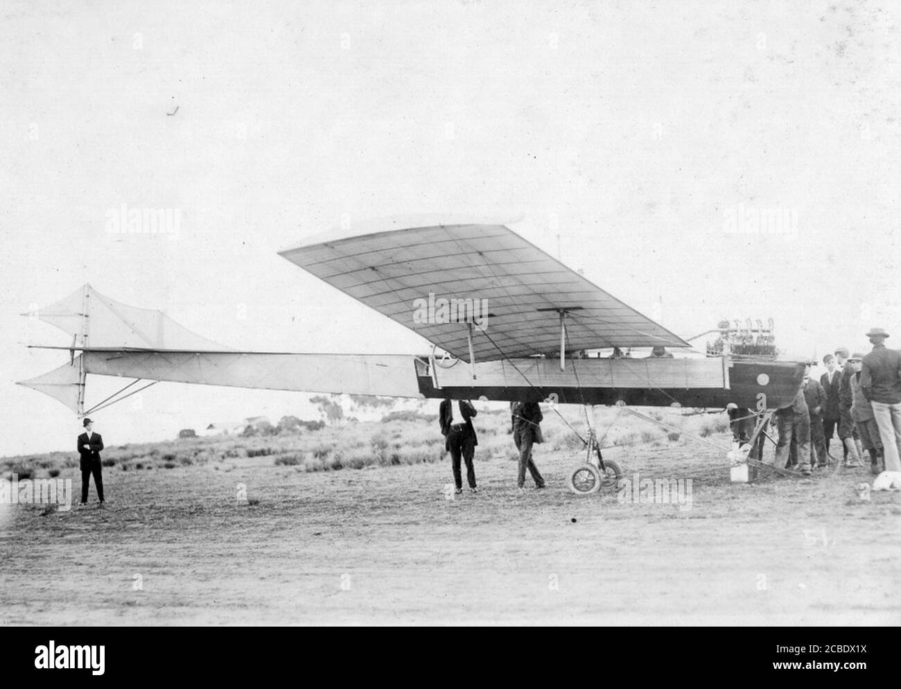 Antoinette monoplan à North Island 1911 Jack Kelly Collection San Diego Aero Space Museum Banque D'Images