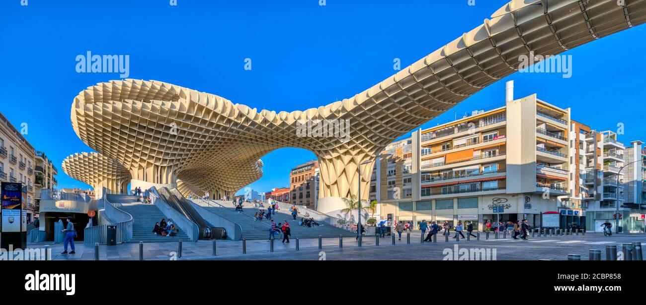 Metropol structure de parasol, Séville, Espagne Banque D'Images