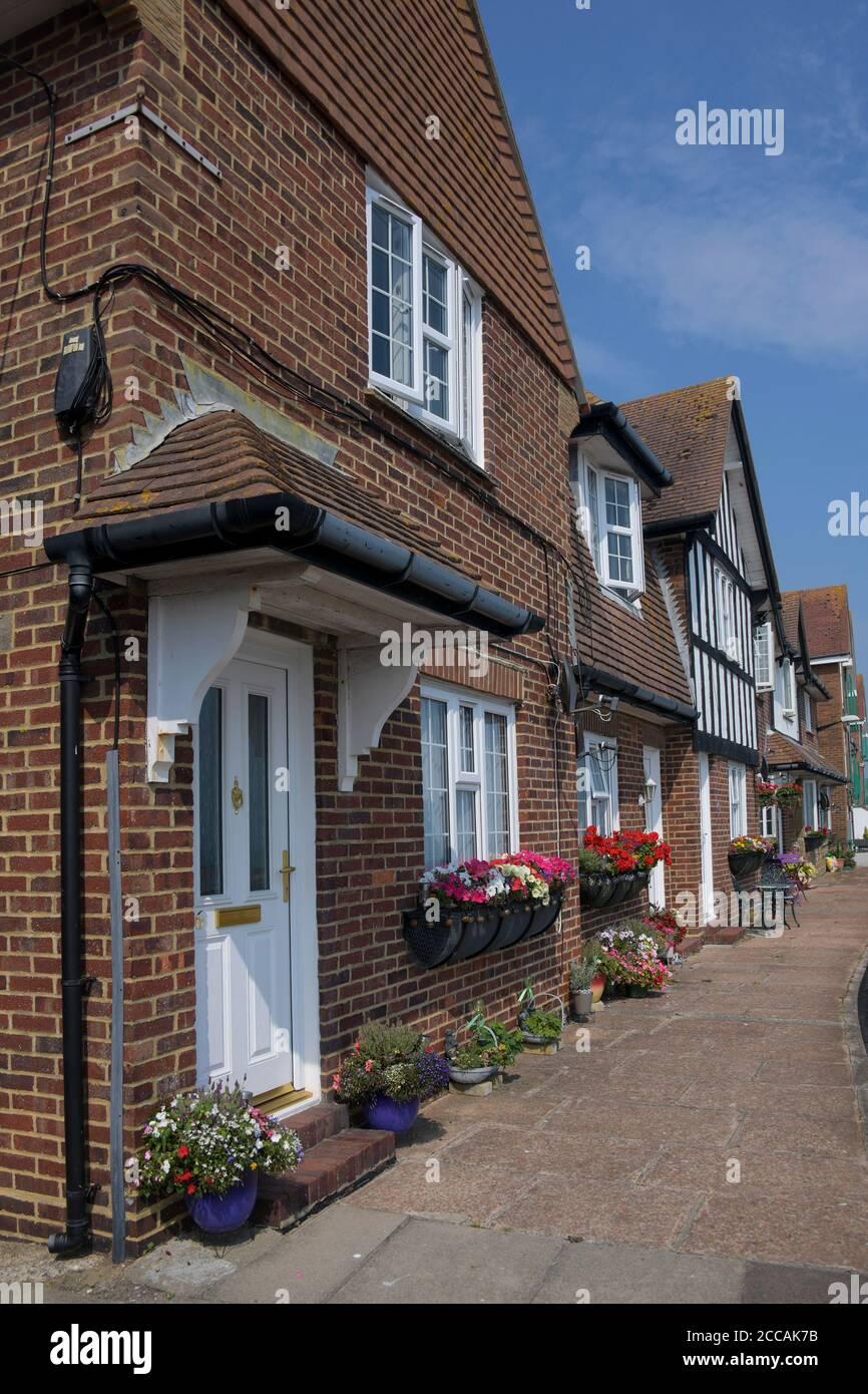 Maisons édouardiennes Folkestone Harbour Kent England1 Banque D'Images