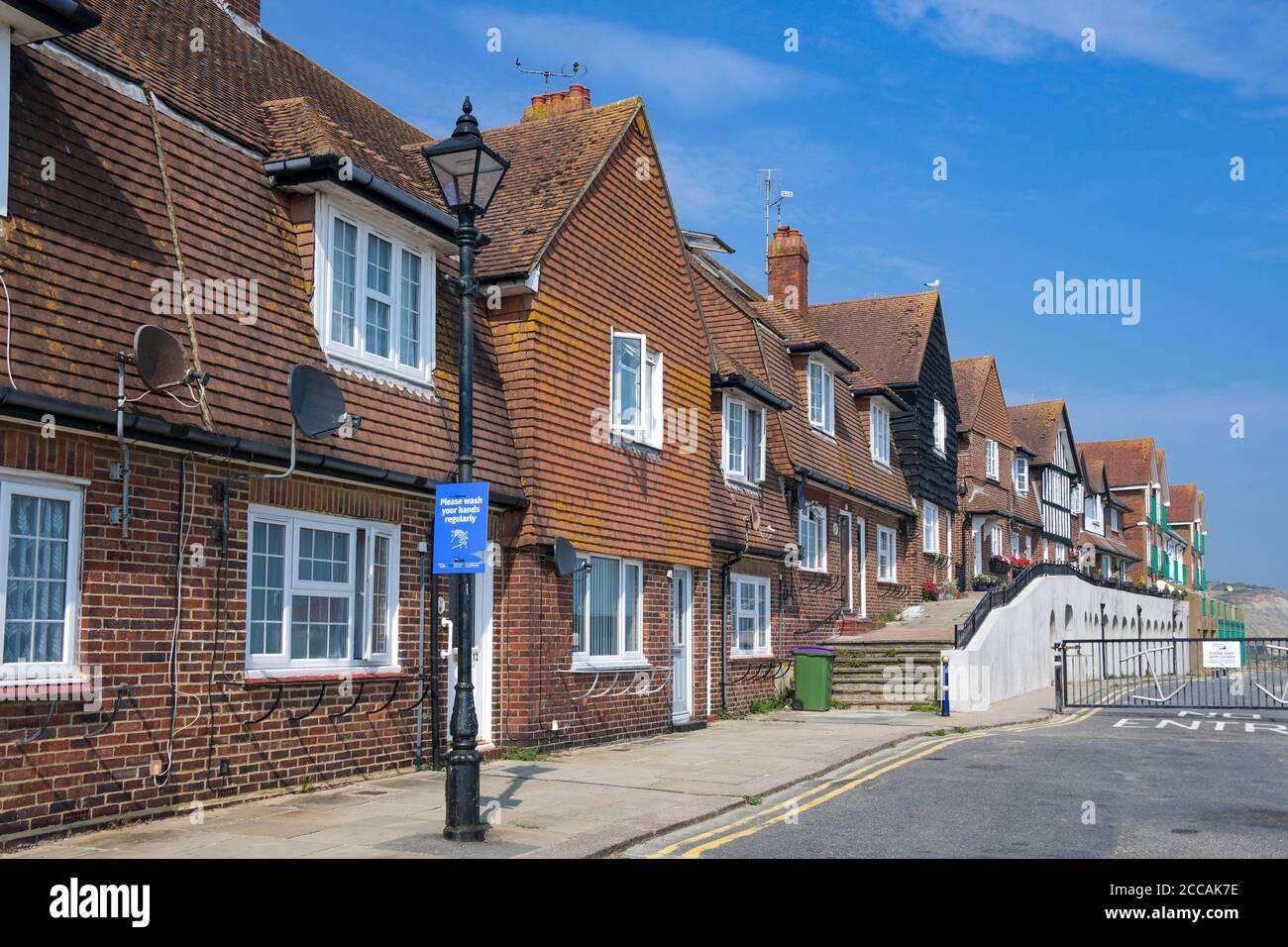 Edwardian maisons Folkestone Harbour Kent Angleterre Banque D'Images