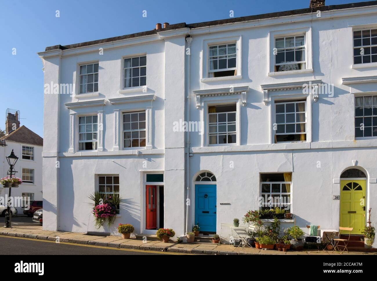 Bâtiment élégant Bayle Folkestone Kent Angleterre Banque D'Images