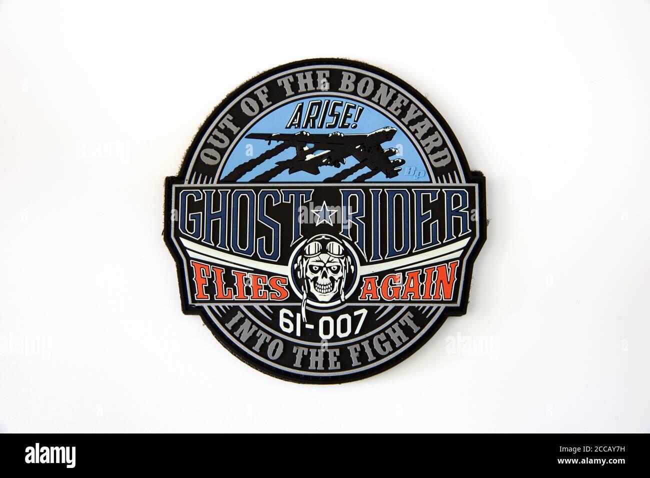 B-52 plaque d'hommage en PVC à la rider fantôme Stratofortress. Banque D'Images