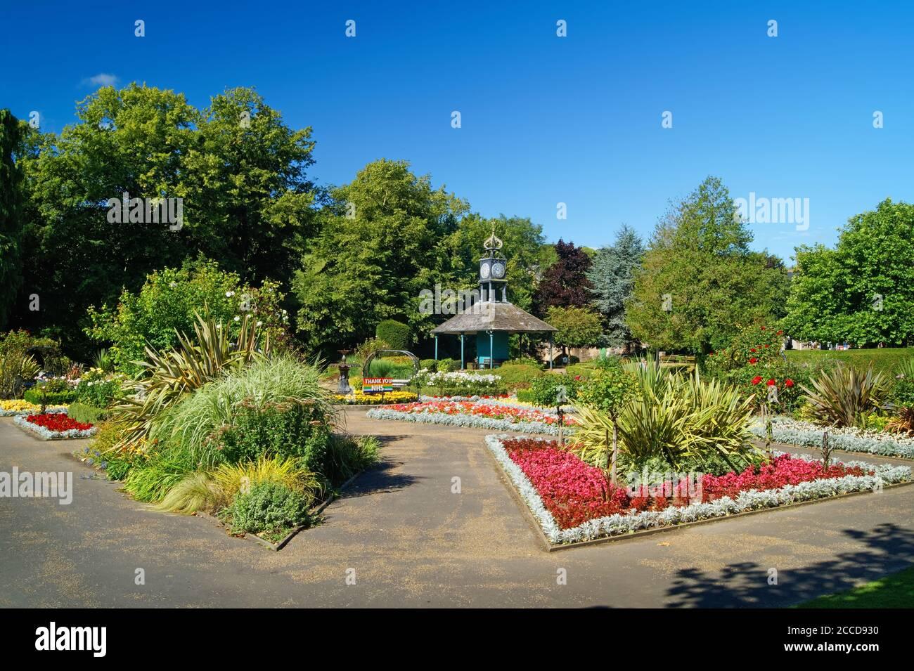 Royaume-Uni, Derbyshire, Matlock, Hall Leys Park Banque D'Images