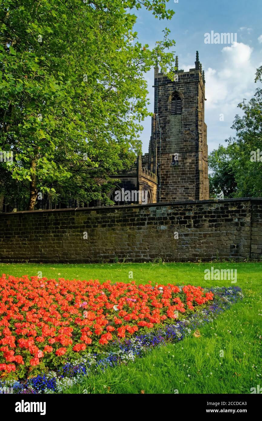 Royaume-Uni, Yorkshire du Sud, Barnsley, église St Mary Banque D'Images