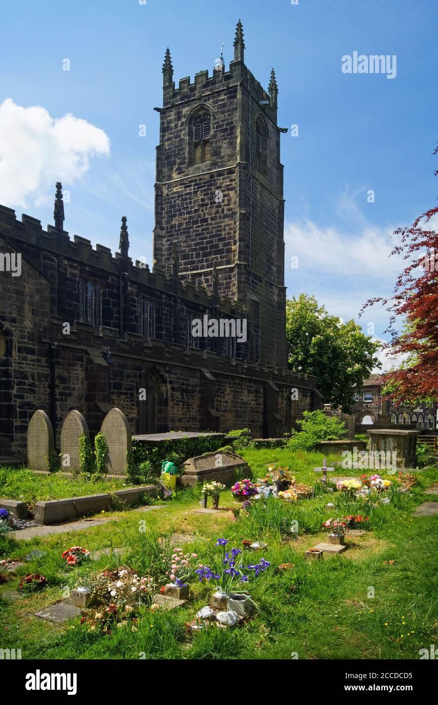 Royaume-Uni, Yorkshire du Sud, Barnsley, Penistone, Église Saint-Jean-Baptiste Banque D'Images