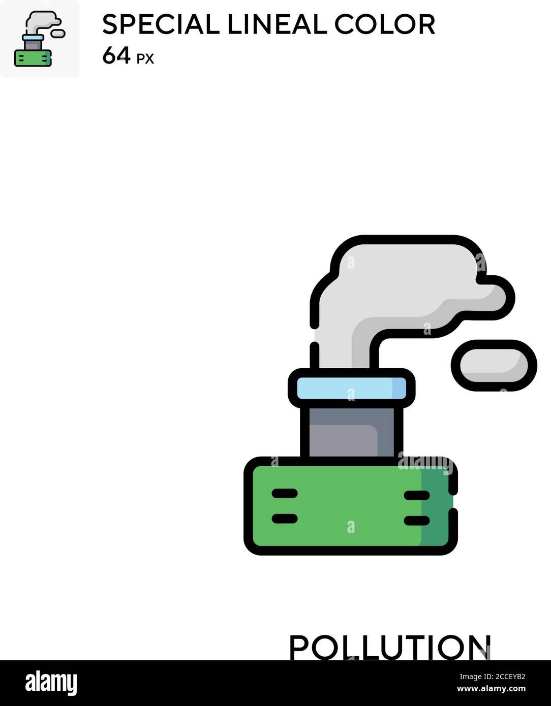 Pollution icône de couleur spéciale du joint. Modèle de conception de symbole d'illustration pour élément d'interface utilisateur Web mobile. Illustration de Vecteur