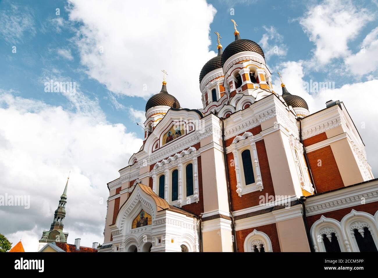La cathédrale Alexandre Nevsky à Tallinn, Estonie Banque D'Images