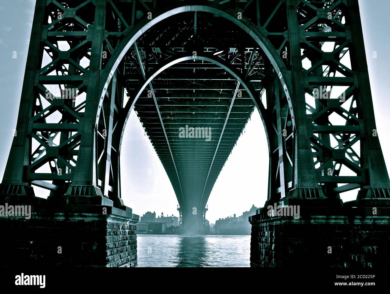 Le pont de Williamsburg, NEW YORK Banque D'Images
