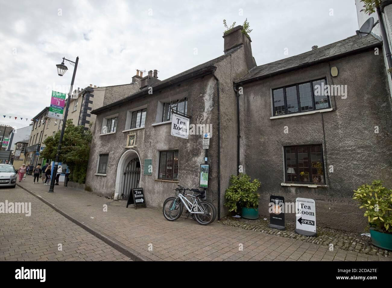 maison de maîtres salon de thé anciennement le sandes hôpital almshouses highgate Kendal cumbria angleterre royaume-uni Banque D'Images