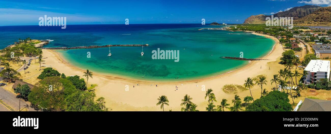 Baie de Pokai, Waianae, Leeward, Oahu, Hawaï Banque D'Images