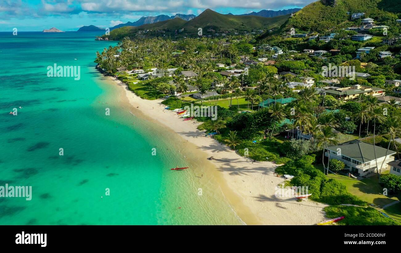 Lanikai Beach, Kailua, Oahu, Hawaii, USA Banque D'Images