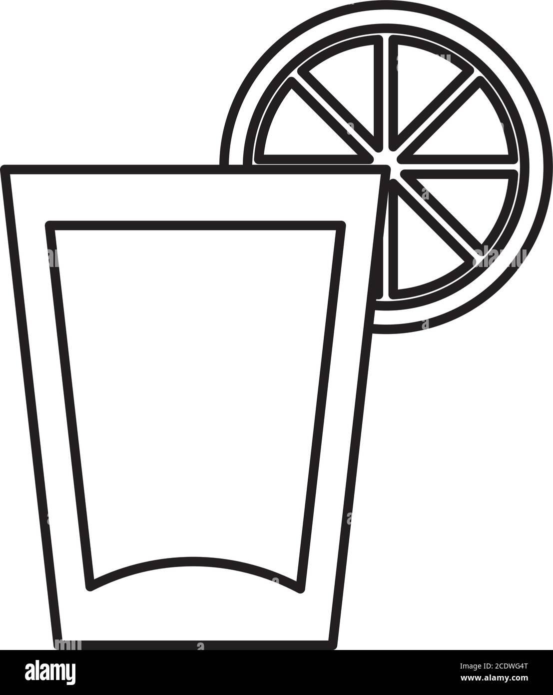 icône en verre limonade sur fond blanc, style de ligne, illustration vectorielle Illustration de Vecteur