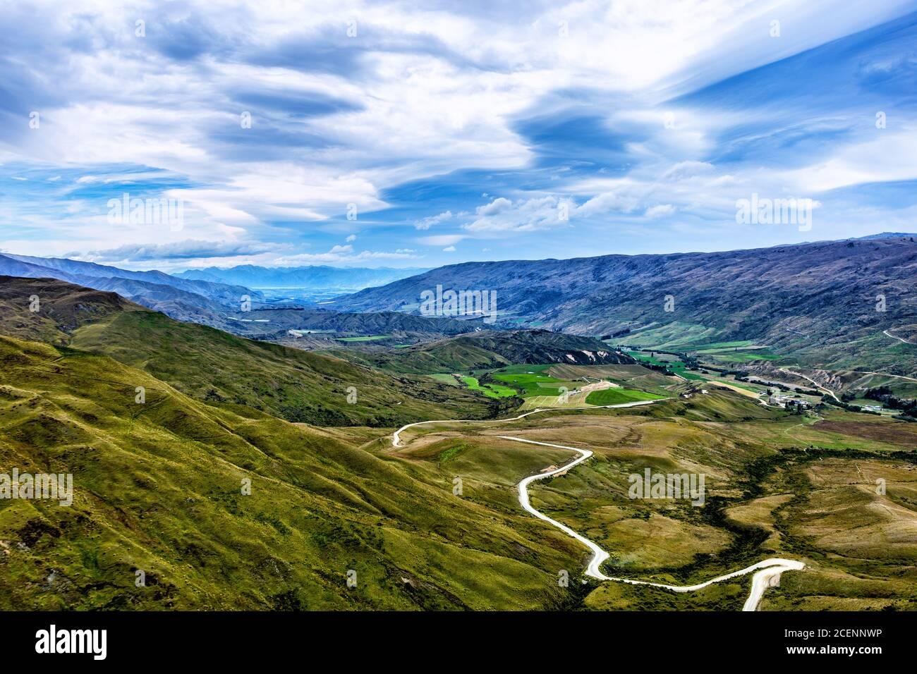Cardrona Valley, Otago, Île du Sud, Nouvelle-Zélande, Océanie. Banque D'Images