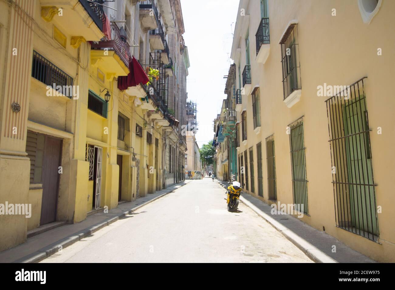Rues de Cuba, la Havane Banque D'Images
