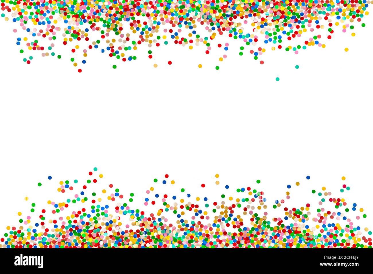 Fond confetti. Fête des fêtes décoration colorée bannière Banque D'Images