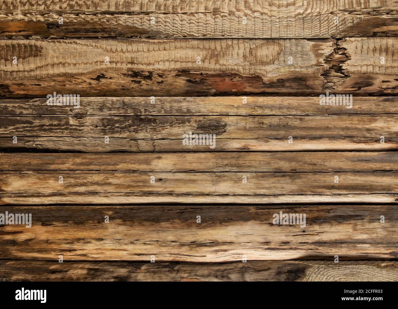 Texture du bois. Arrière-plan rustique en bois brun Banque D'Images
